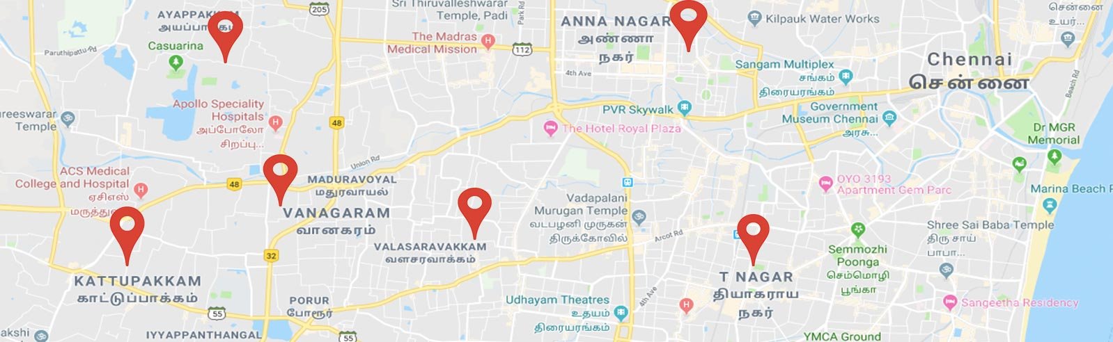 affordable escorts services location map